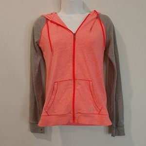 2/$25 Under Armour Charged pink grey zip jacket